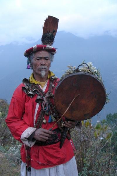Tamang traditional Shaman in Langtang