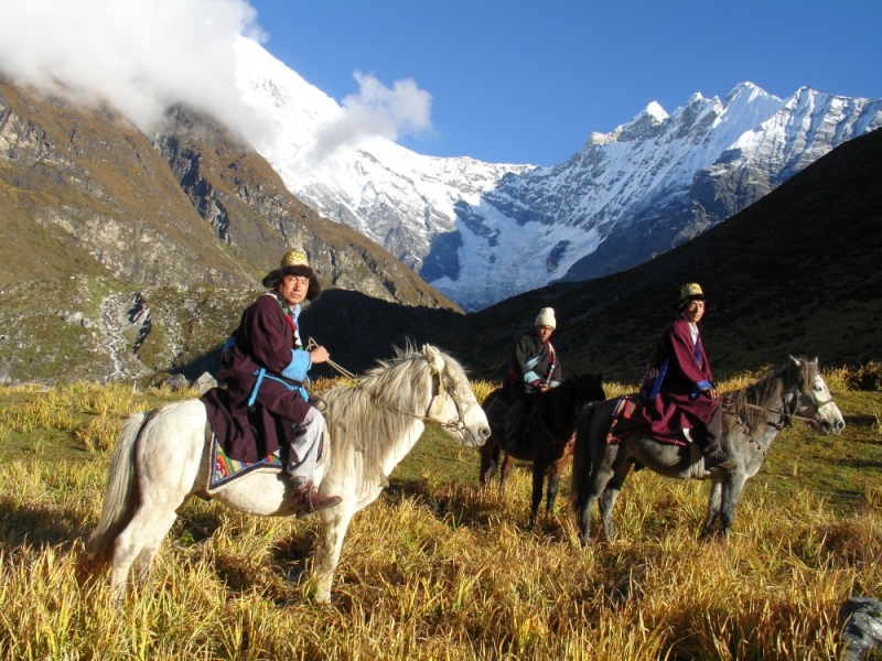 Horse riding by Tamangs