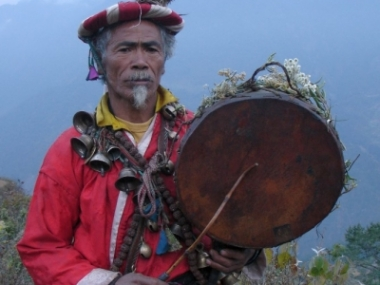 Tamang traditional Shaman in Langtang