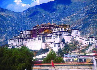 Fabled Potala Palace in the holy city of Lhasa - Tibet