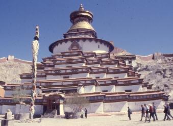 an imposing monastery in Tibet