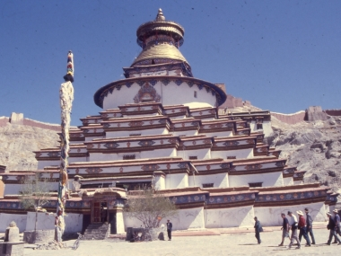 an imposing monastery in Tibet