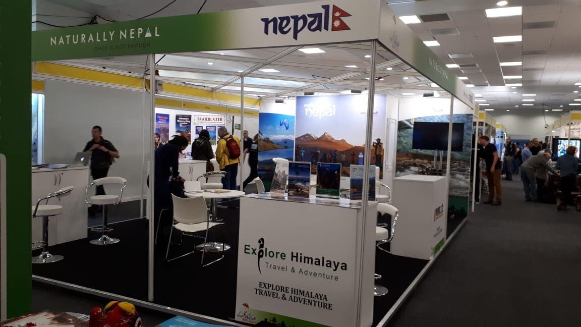 Explore Himalaya Stand in Adventure Travel Show London 2019