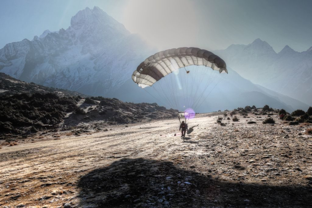 The highest skydiving drop zone at Syangboche