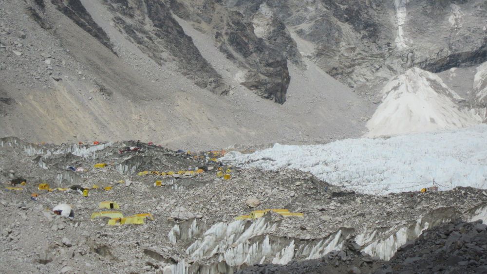 The new Everest Base Camp