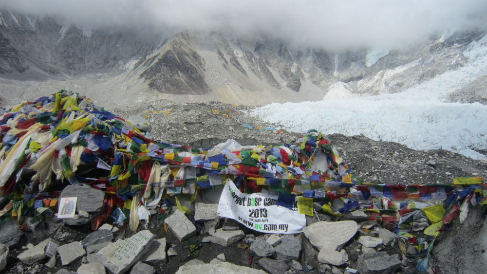 The old Everest Base Camp