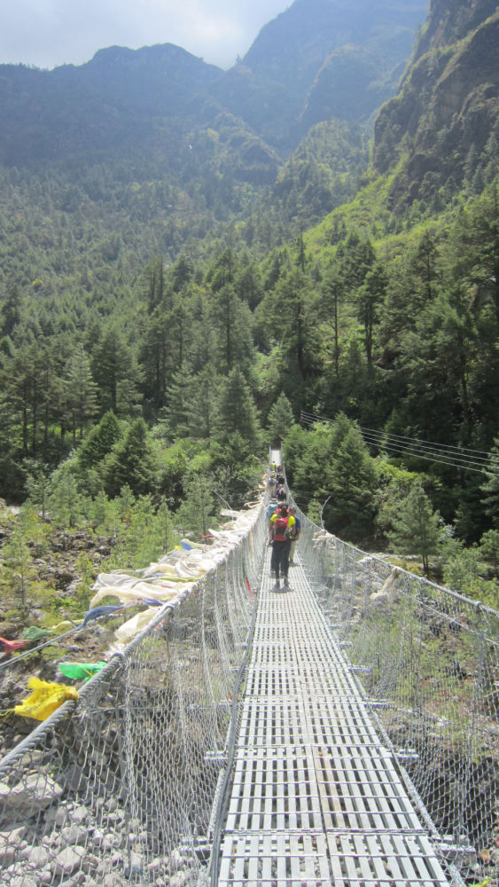 First bridge to EBC- 45 mins walk from Lukla