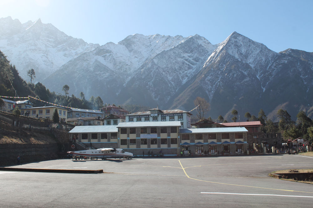 One of the most thrilling airports of the world- Lukla 2840m - Everest Heli Tour