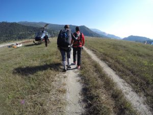 Tandem Master and Skydiver on the way to flying...