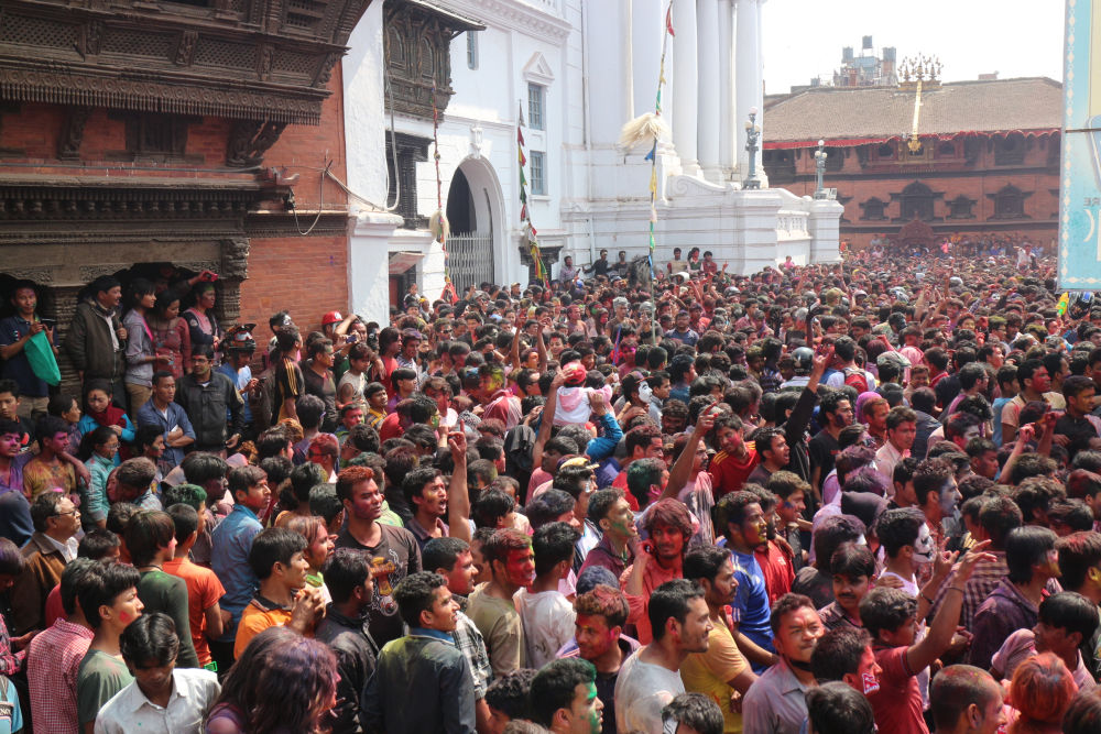 Ocean of people- a rare view during holi