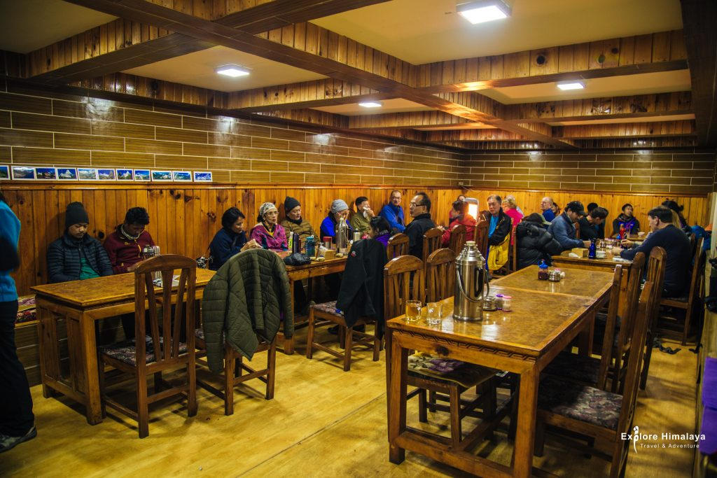 A well-earned rest at Everest-Inn Namche