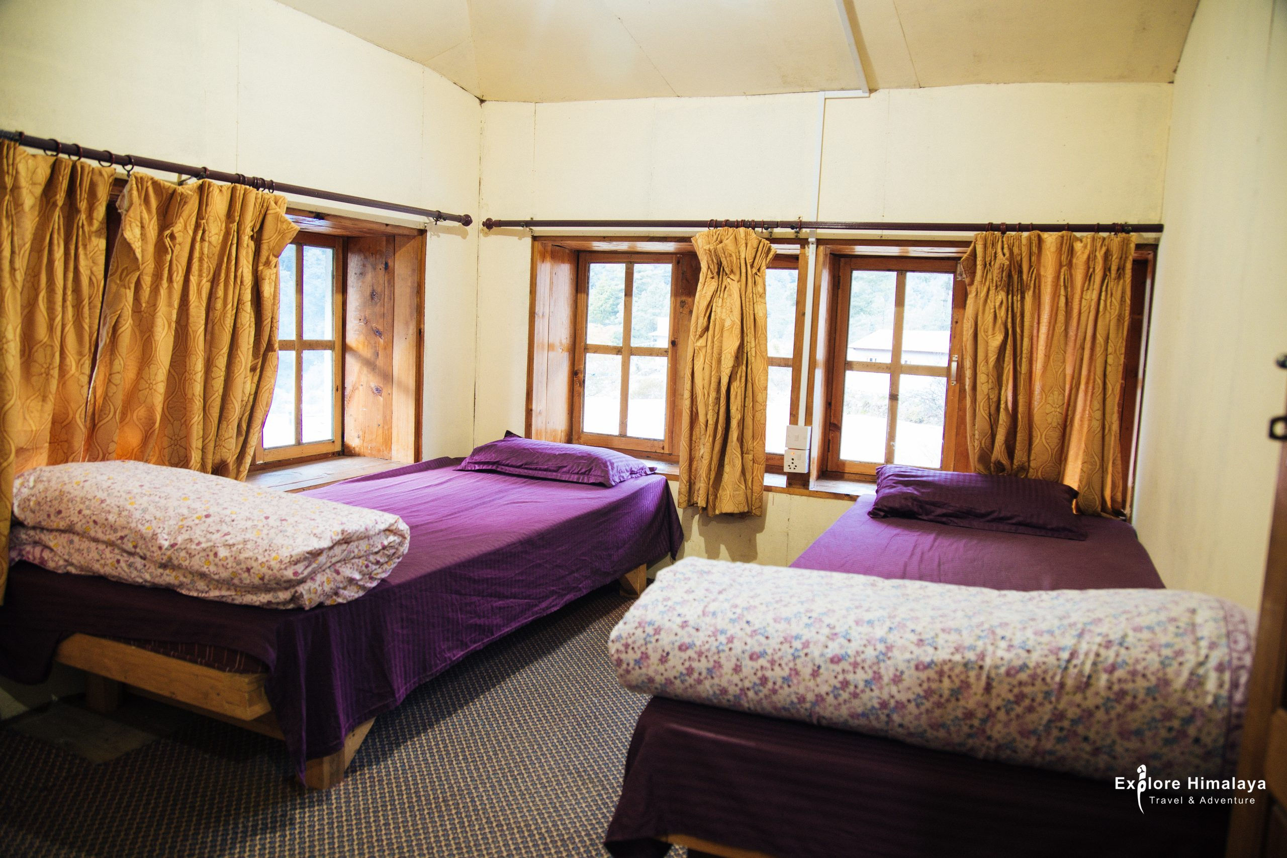 Accommodation in Everest Base Camp trek - Tea House Hotel Room in Everest Region