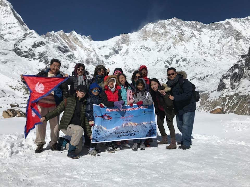 At Annapurna Base Camp (4130m)