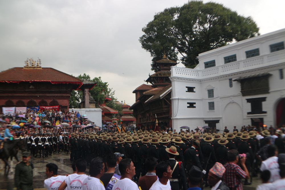 Arrival of high officials and expats to Kathmandu Durbar Square