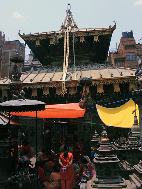 Machhindra Bahal- The ancient temple on the way to Durbar Square remains intact