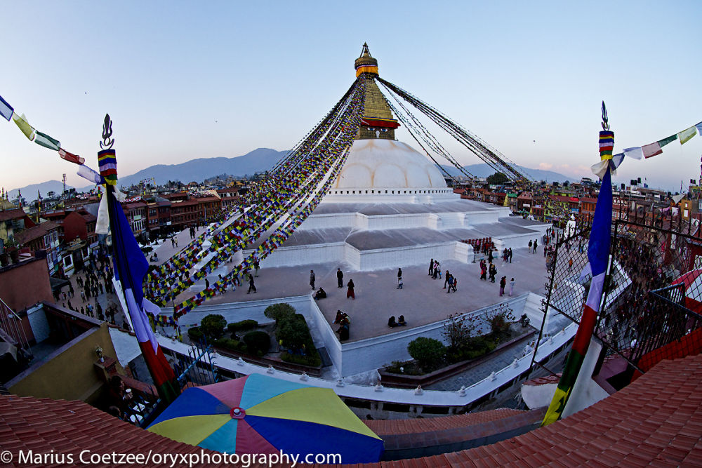 The best view of peaceful Boudhanath