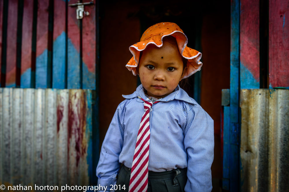Do I look pretty in my school dress? Photography tour in Nepal