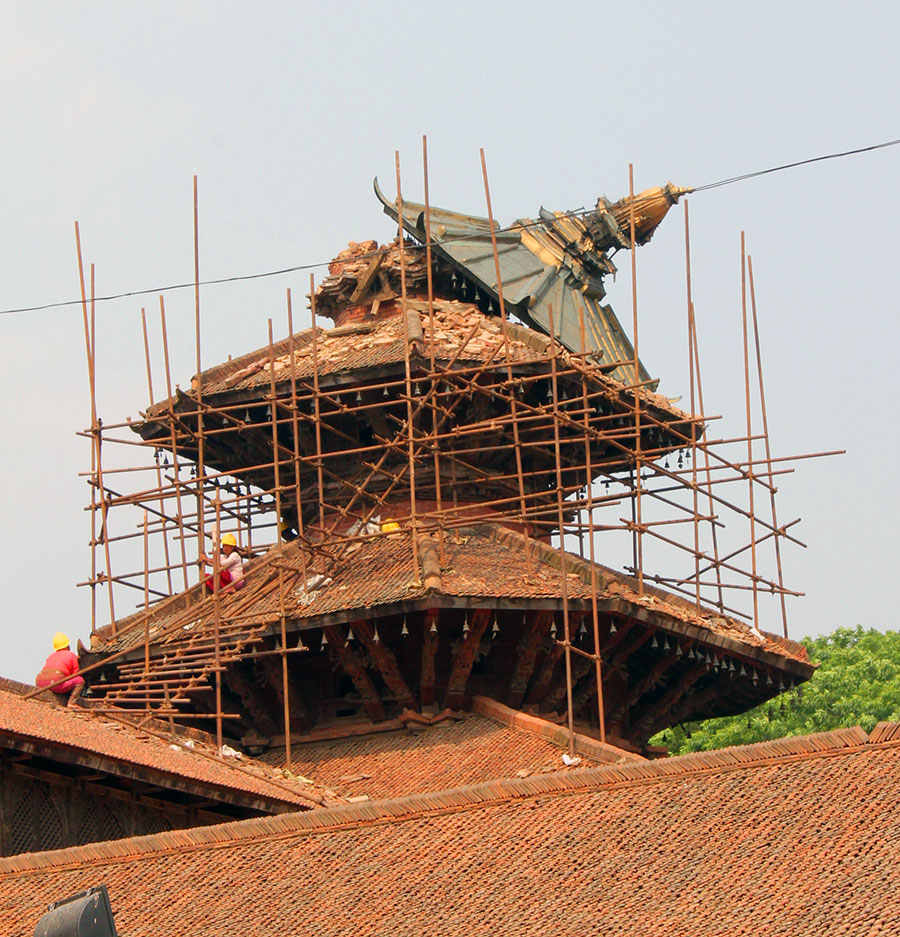 The natives of Patanrenovating historic heritage sites