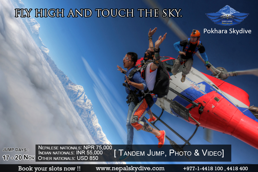 Pokhara Skydive in Nepal is happening in November