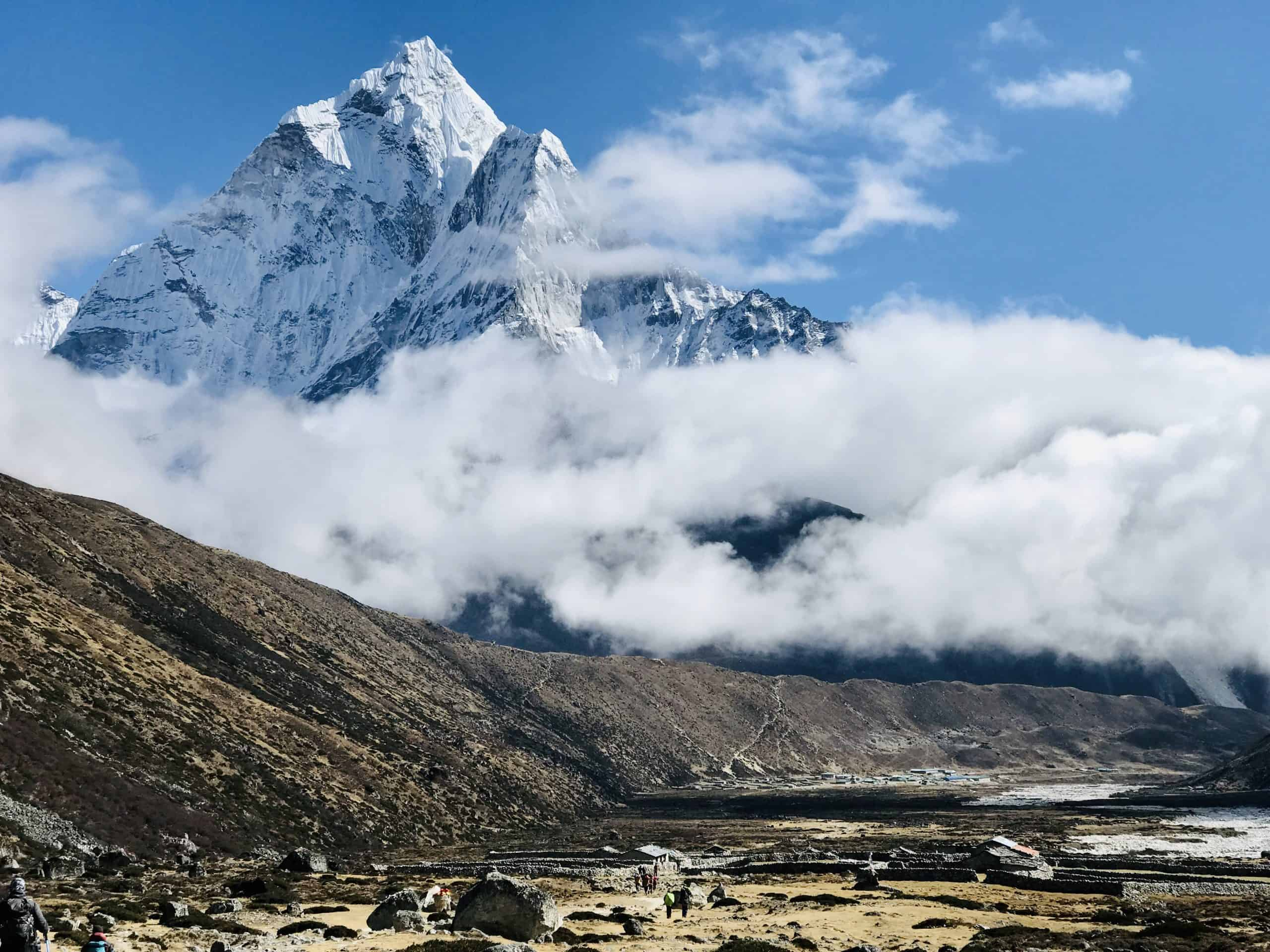 Pheriche with a backdrop of Amadablam