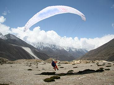 Testing the paraglider