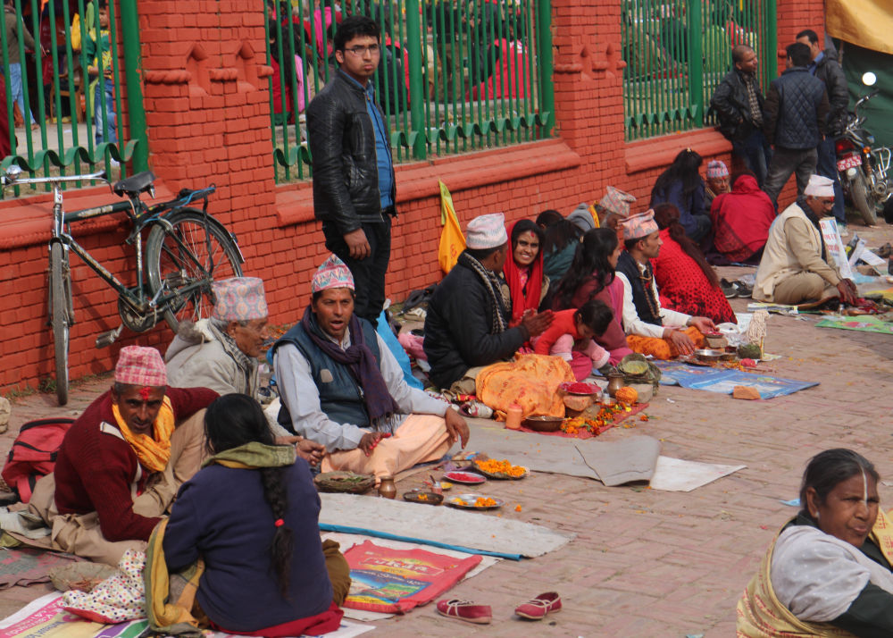 astrologers in Pashupati during Shivaratri