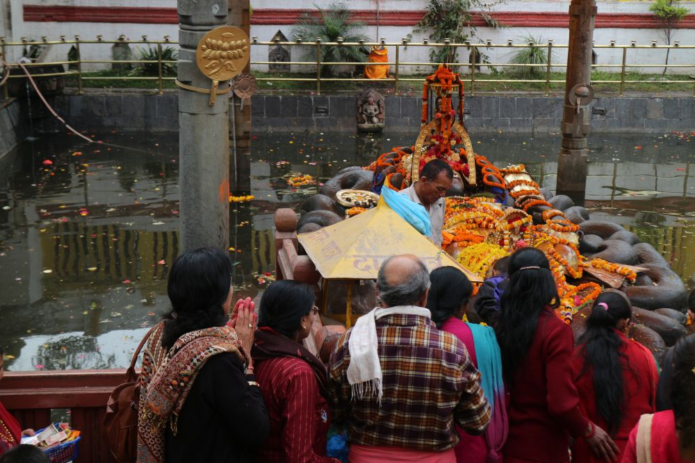 The sacred pond at Budhanikantha from where the new year can be best started