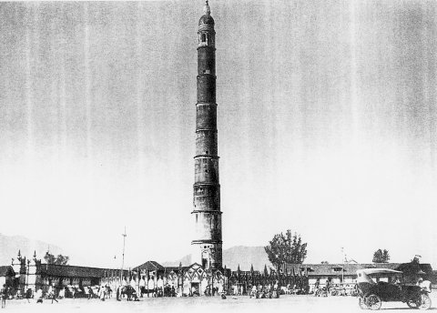 "Dharahara, also known as ""Bhimsen Tower"" in 19th century"
