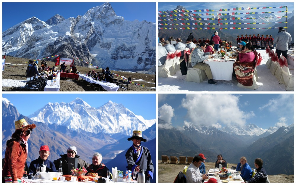 Highest meeting point at Everest ideal for corporate meeting and luxury holidays