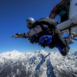Crew & clients of Everest Skydive 2015 reach Namche