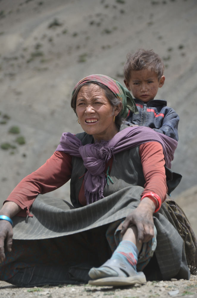 Mother waits eagerly, however kid enjoys the safest ride in Dolpo
