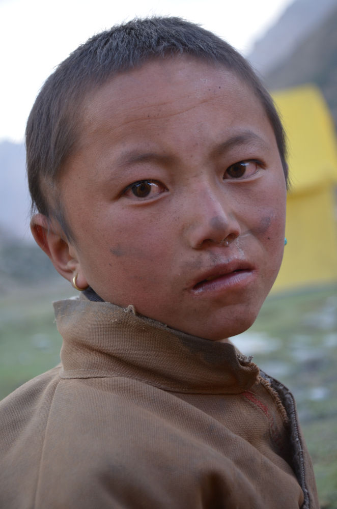 Never give up attitude of a Dolpo kid