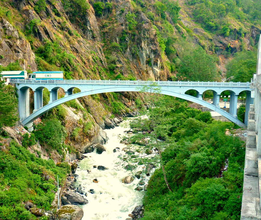 The Friendship Bridge in Kodari that links Nepal and China
