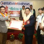"Explore Himalaya President Suman Pandey honored with ""Tourism Lifetime Achievement Award"" by Gantabya Nepal News"