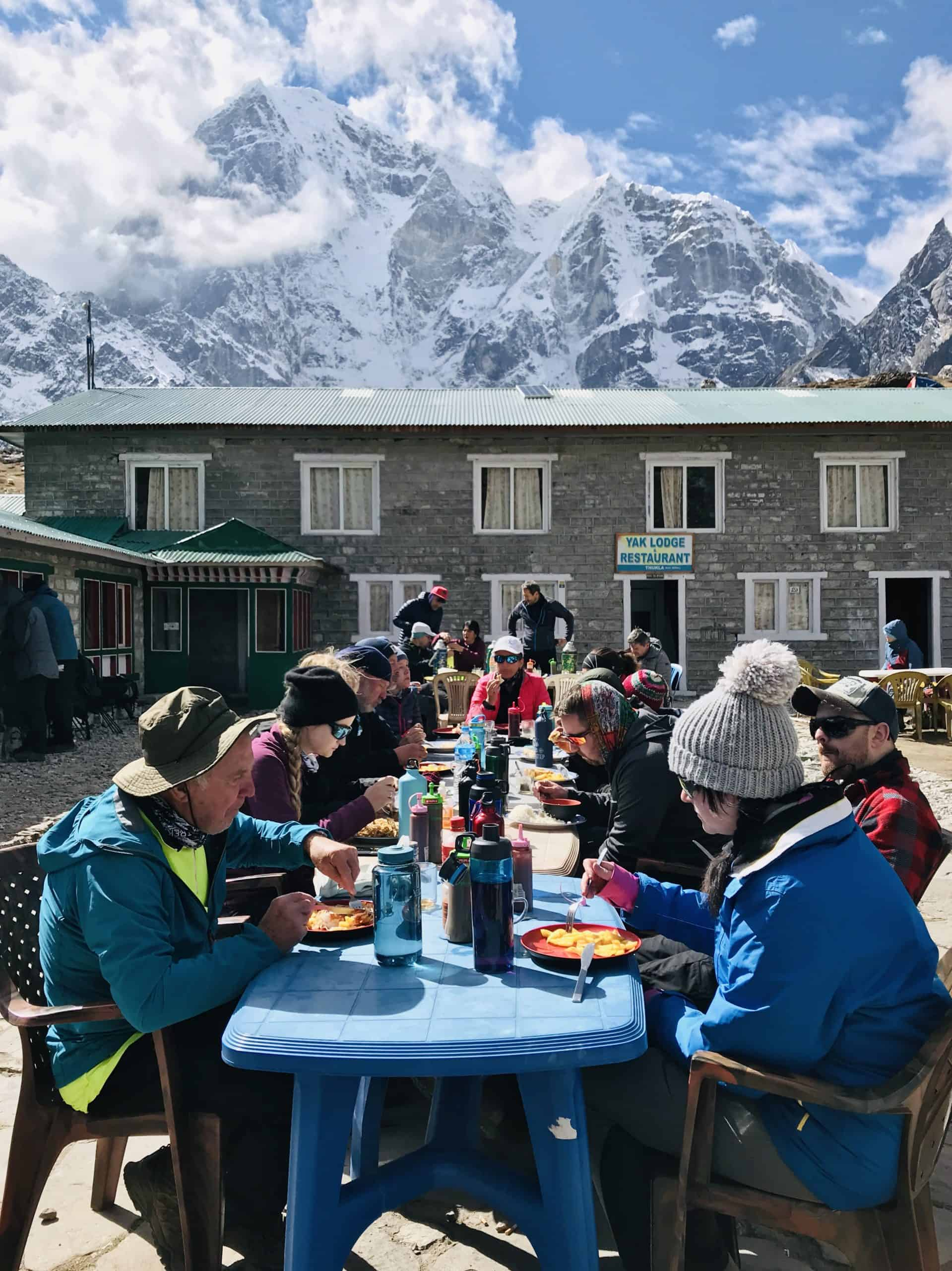 Lunch at Thukla during Everest Base Camp Trek at Dughla