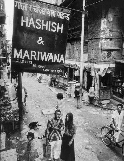 Hippies in street of Kathmandu