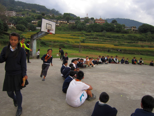 KGV School (Hong Kong) trip in Nepal - school program - 15
