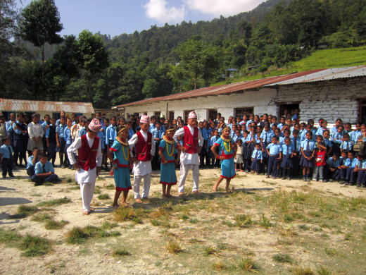 KGV School (Hong Kong) trip in Nepal - cultural program