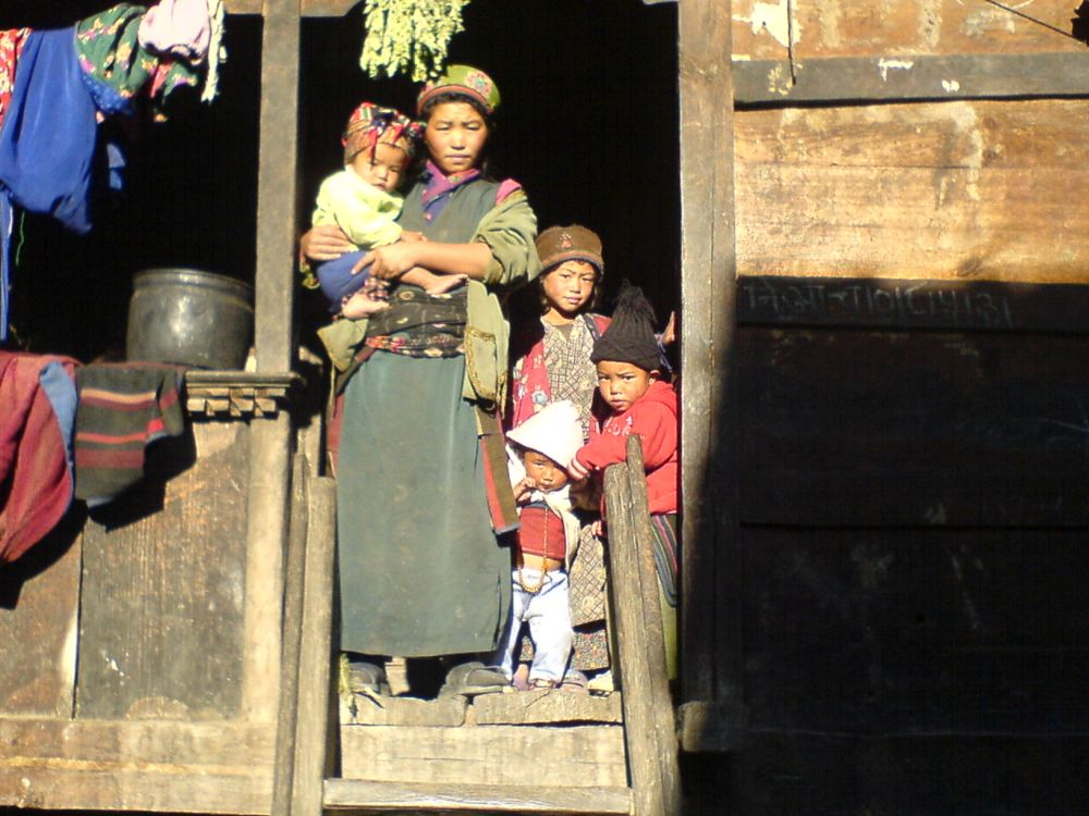A typical Tibetan family during Langtang Trek