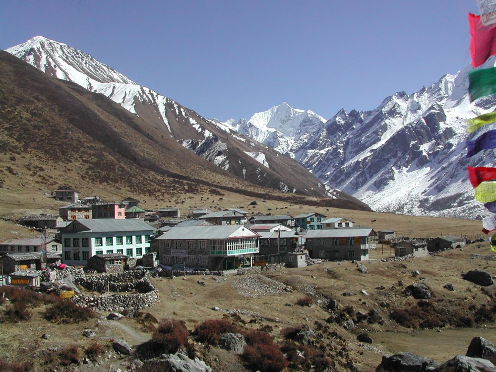 Far-flung hamlet at the base of Himalaya