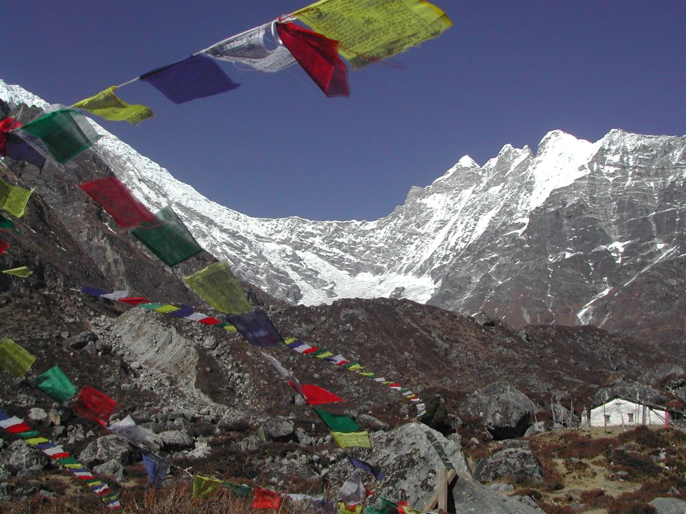 Every color of the prayer flags has significant meaning