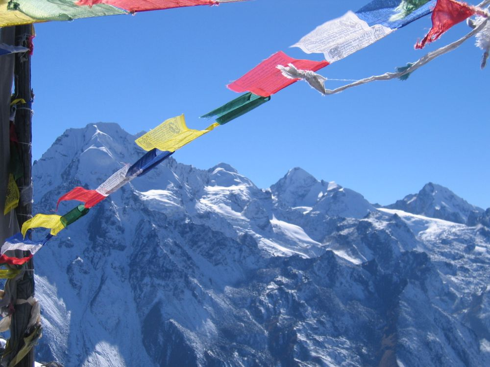 Soothing sound of prayer flags fluttering