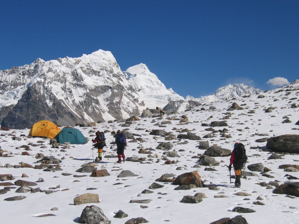 Camping right below the mountains of Nepal is a thrilling experience