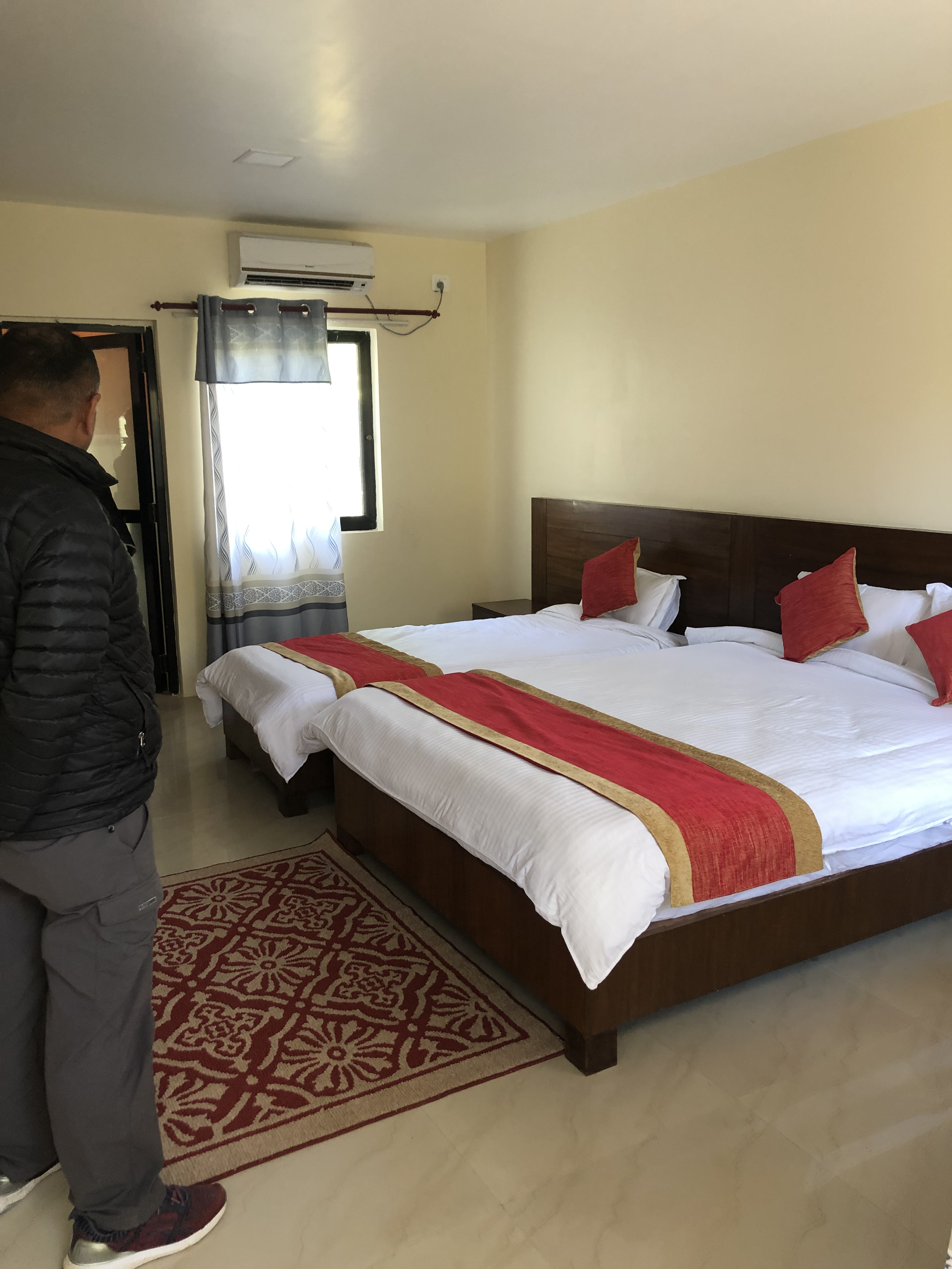 A hotel room at Mulkot