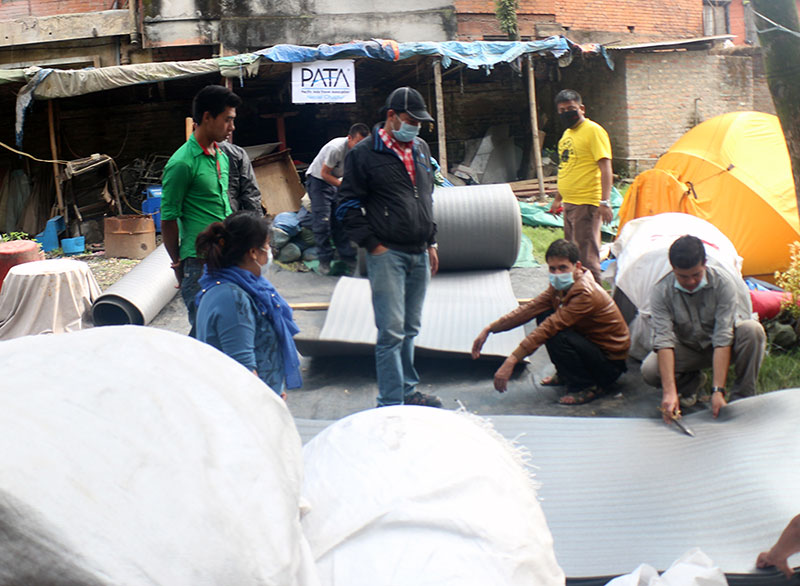 Everyone at Explore Himalaya has own roles to support the quake victims