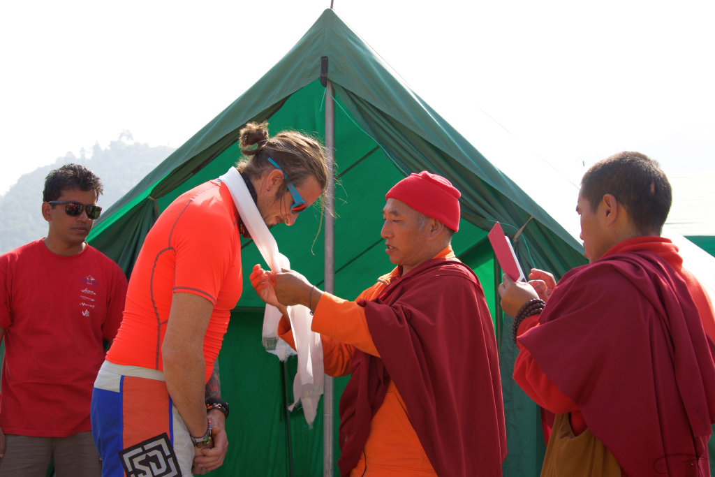 Blessings from the monk, Tradition in Nepal before the adventurous feat