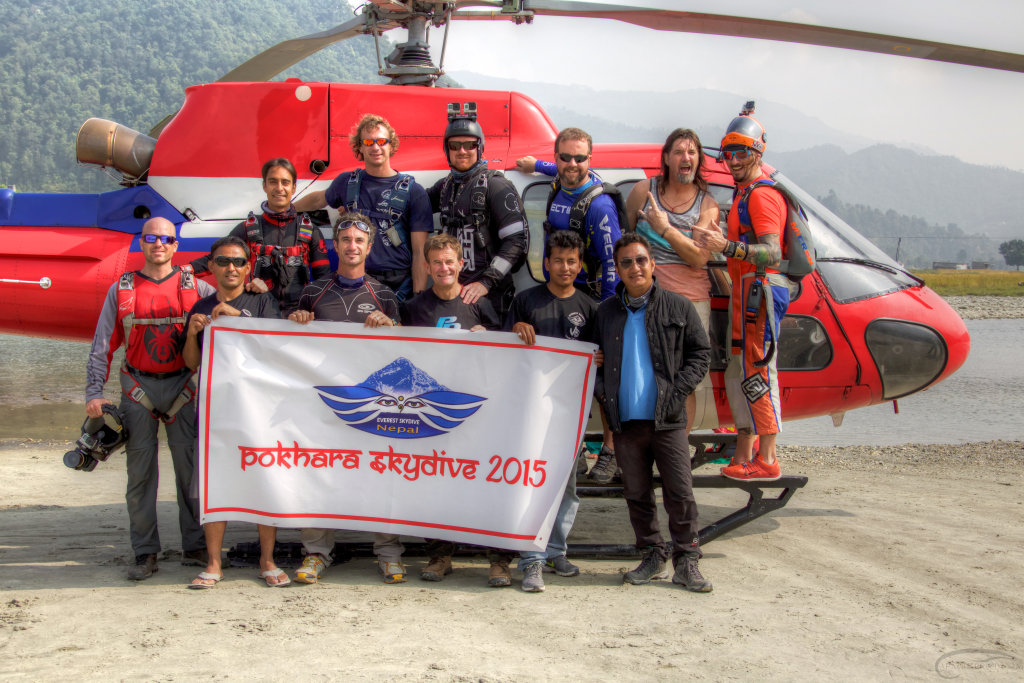 The crew with Fishtail Helicopters
