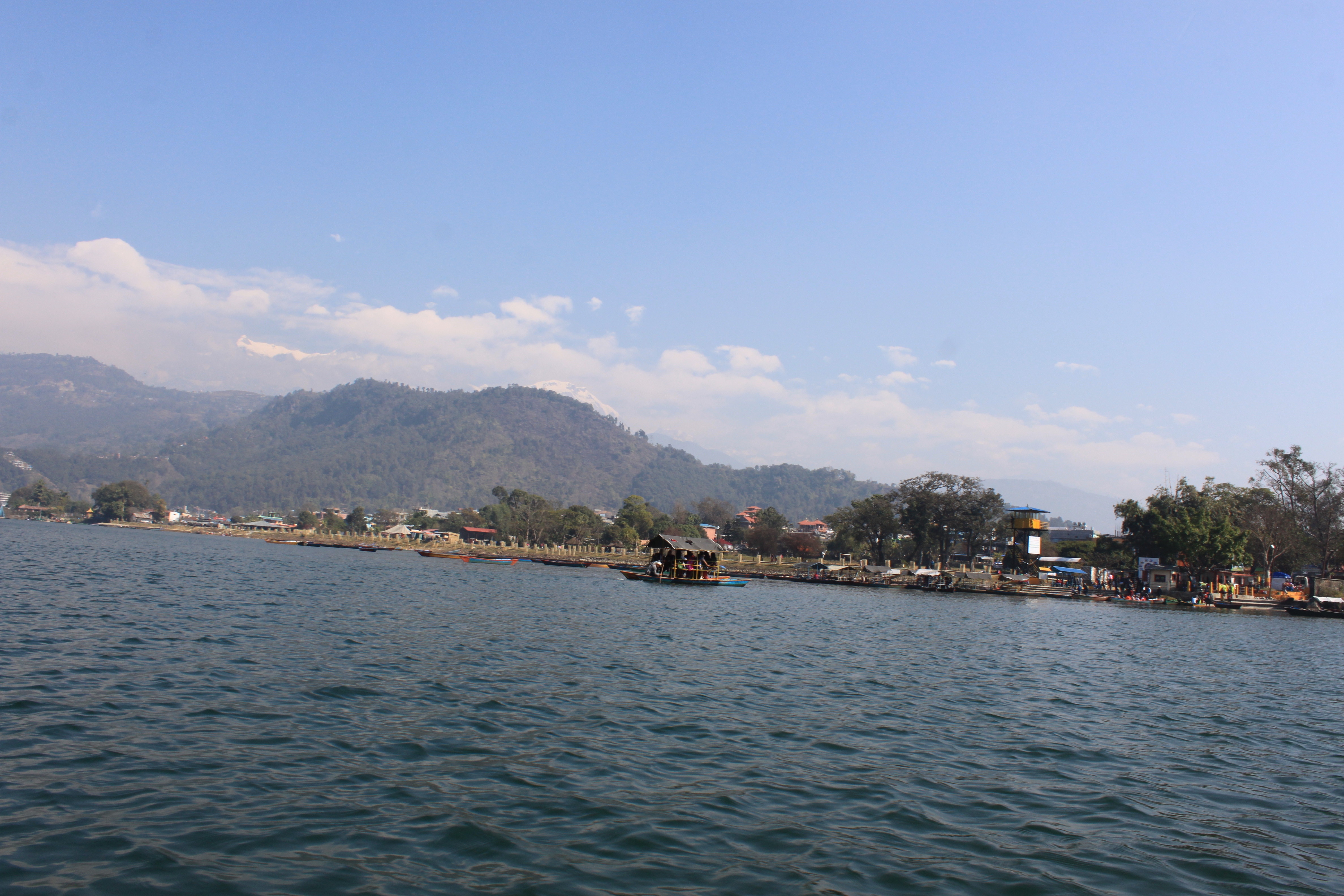 Pokhara the cheapest city- tourists enjoying at the lakeside
