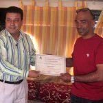 Certificate of Achievement to Mr. Al Habsi