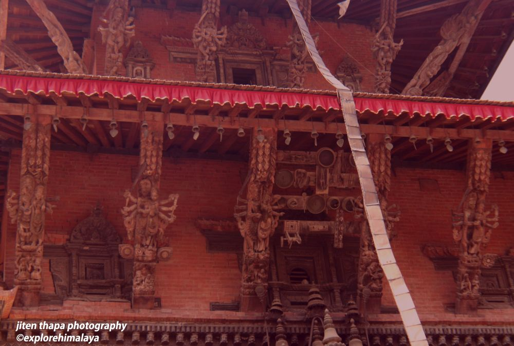 The artwork in the temple beside Krishna Mandir in Patan Durbar Square